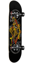 Powell Peralta Golden Dragon Diamond Dragon III - Black - 7.375in x 29.4in - Complete Skateboard