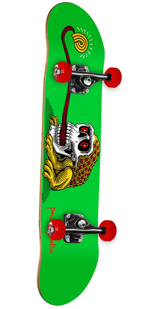 Powell Peralta Frog Skull - Green - 7.5in x 28.65in - Complete Skateboard