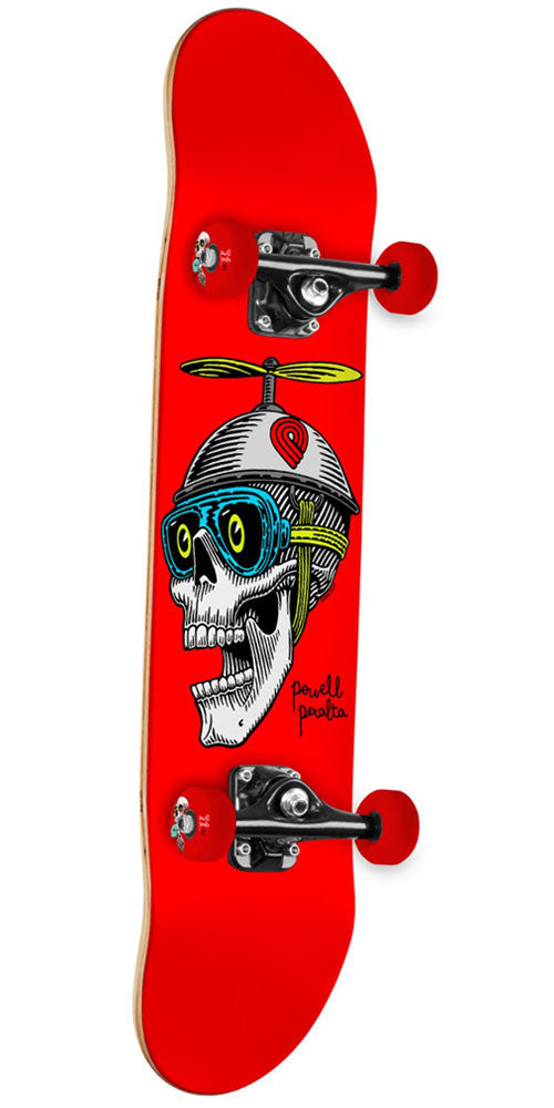 Powell Peralta Prop Head - Red - 7.5in x 31.375in - Complete Skateboard