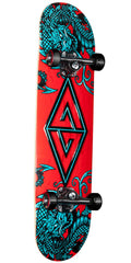 Powell Peralta Golden Dragon Two Dragon II - Blue/Red - 6.5in x 27.25in - Complete Skateboard