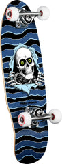 Powell Peralta Micro Ripper - Blue/Black - 7.5in x 24.0in - Complete Skateboard