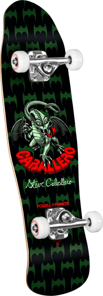 Powell Peralta Mini Cab Dragon - Black - 8.0in x 29.5in - Complete Skateboard