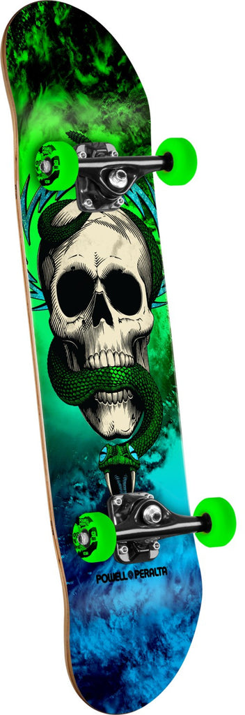 Powell Peralta Skull & Snake Storm - Blue/Green - 7.625in x 31.625in - Complete Skateboard