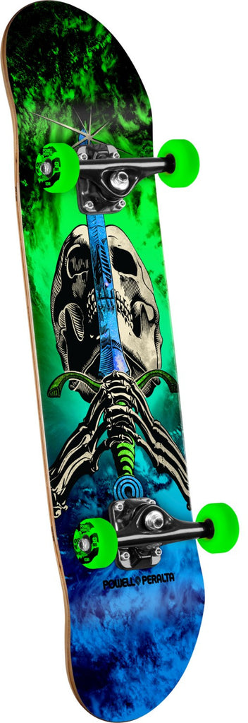 Powell Peralta Skull & Sword Storm - Blue/Green - 7.88in x 31.67in - Complete Skateboard
