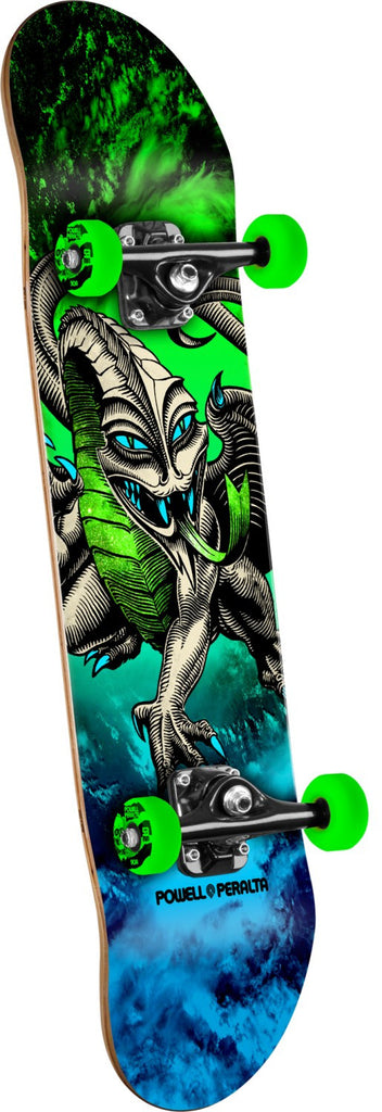 Powell Peralta Cab Dragon Storm - Blue/Green - 7.5in x 28.65in - Complete Skateboard
