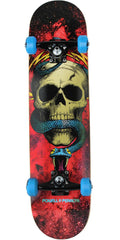Powell Peralta Skull and Snake  - Cosmic Red - 7.625in X 31.625in - Complete Skateboard