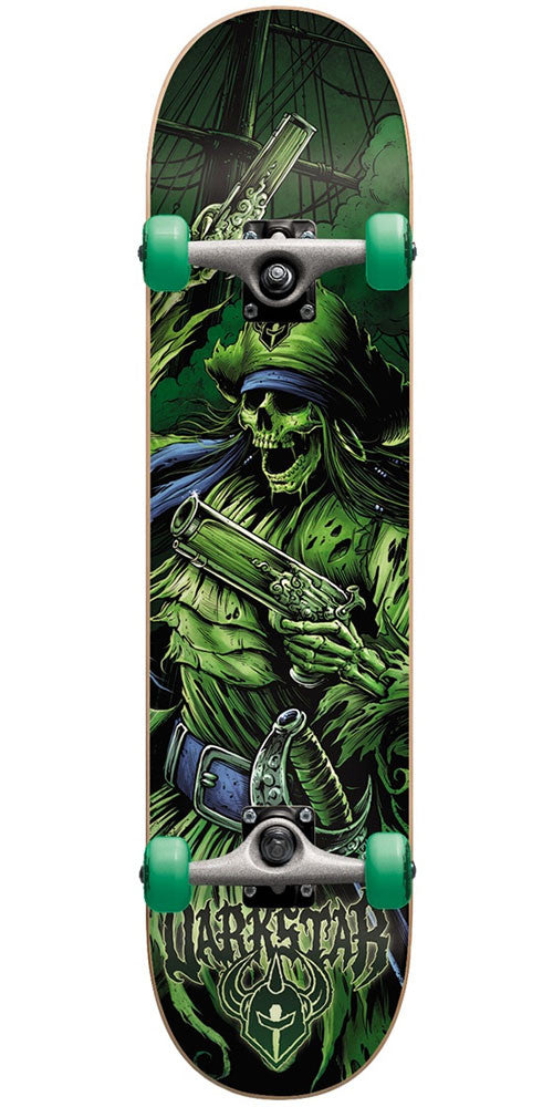 DarkStar Pirate FP Youth Mid - Green - 7.25in - Complete Skateboard