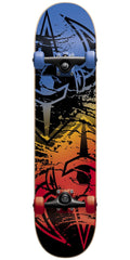 DarkStar Drench Youth Mid - Blue/Red - 7.375in - Complete Skateboard