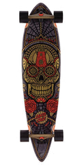Santa Cruz Sugar Skull Gold Pintail - Multi - 9.58in x 39.0in - Complete Skateboard