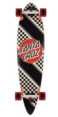 Santa Cruz Check Stripe Pintail - Multi - 9.58in x 39.0in - Complete Skateboard