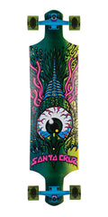 Santa Cruz Eagle Eye Drop Down - Multi - 10in x 40in - Complete Skateboard