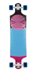 Santa Cruz Spiral Dot Drop Down - Multi - 10in x 40in - Complete Skateboard