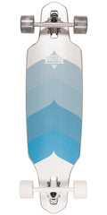 Dusters Wake Longboard - Chrome Blue - 34.0in - Complete Skateboard