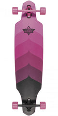 Dusters Wake Krypt Longboard - Kryptonic Pink - 38.0in - Complete Skateboard