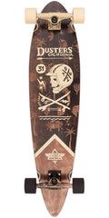 Dusters Moto Seaside Longboard - Off White - 37.0in - Complete Skateboard