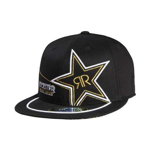 Fox Rockstar Golden 210 Fitted Hat - Black - Men's Hat