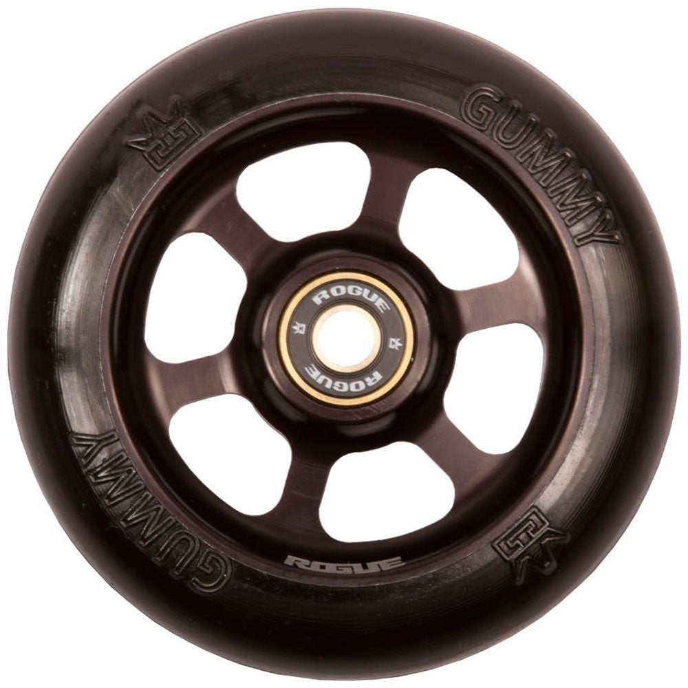Rogue Gummy - 86a 110mm - Black - Scooter Wheels (Set of 2)