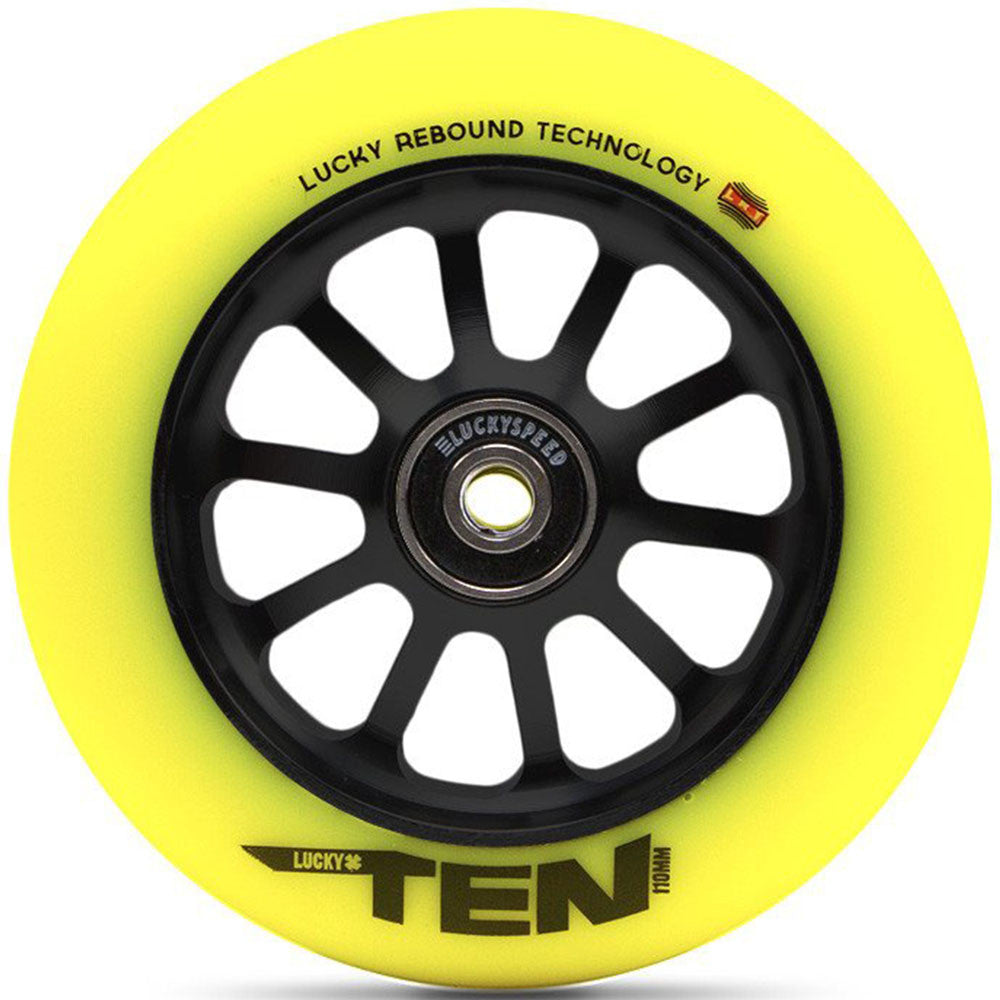 Ten Pro - 86a 120mm - Black/Hi-Liter Yellow - Scooter Wheel