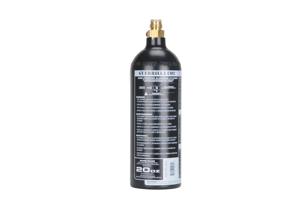 Guerrilla Air 20 Oz CO2 Tank - Black