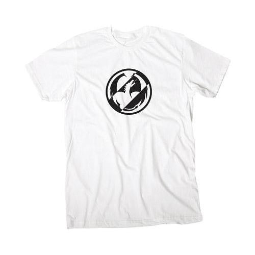 Dragon Two Tone T-Shirt - White - Mens T-Shirt