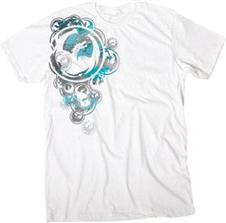 Dragon Side Arm T-Shirt - White - Mens T-Shirt