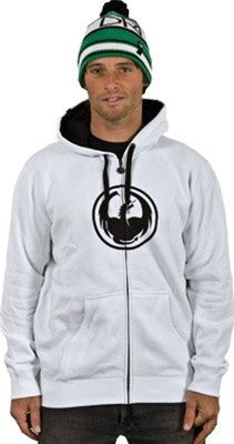Dragon Corp Zip-Up Hoodie - White - Mens Sweatshirt