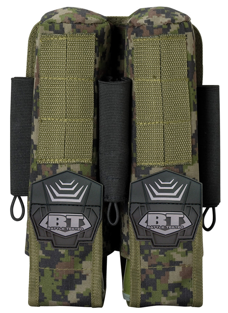 BT 2+3 Pod Pouch Paintball Harness - Woodland Camo Digi