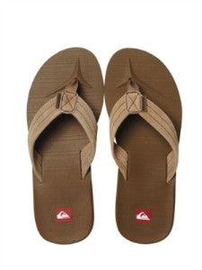 Quiksilver Carver Suede 2 Sandals - Tan - Mens Sandals