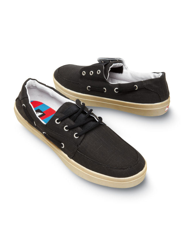 Quiksilver Surfside Shoes - Black - Mens Skateboard Shoes
