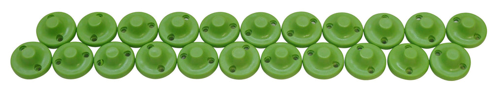 Exalt Plastic Flat Point Spikes - Green