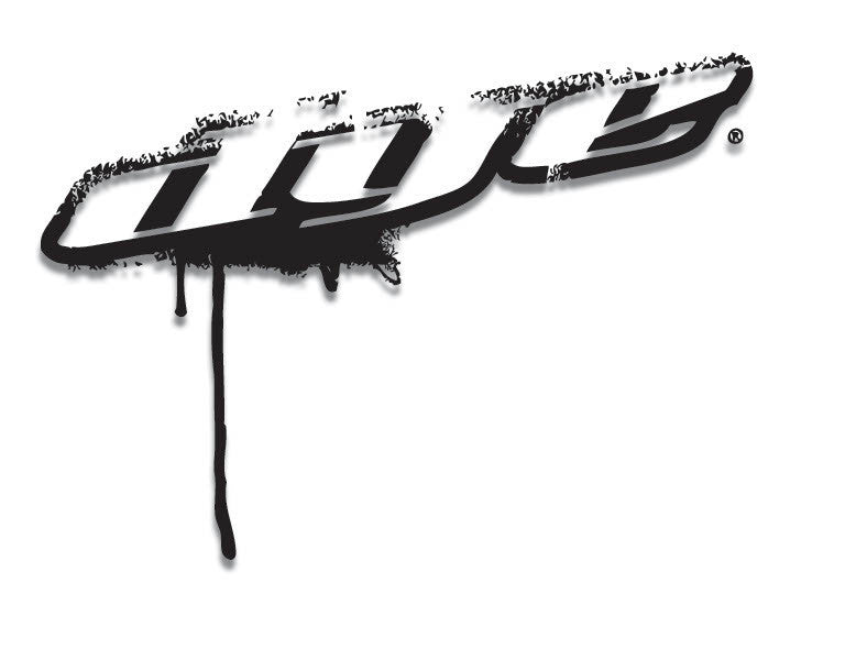 "Dye Paintball Sticker Drip Angle 8"" - Black"