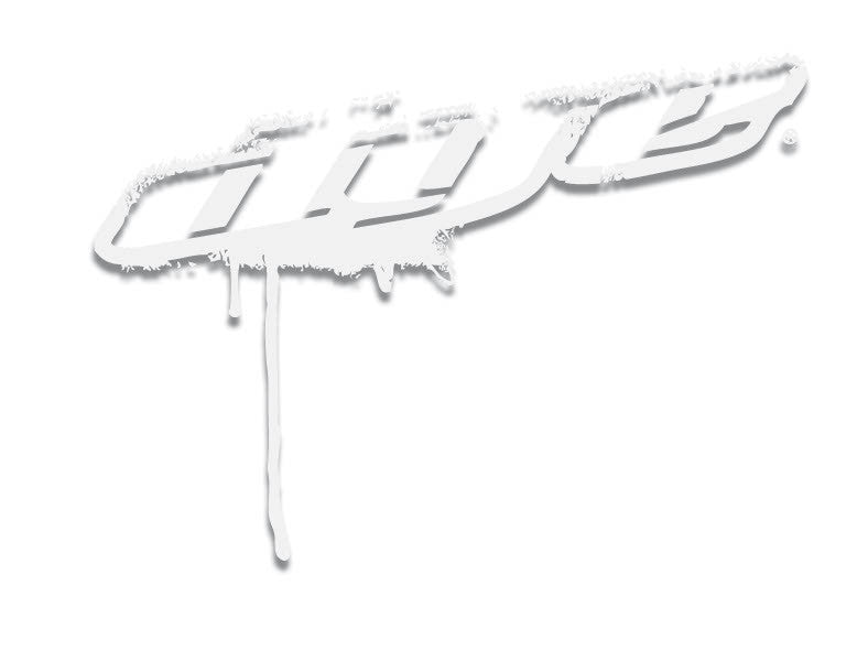 "Dye Paintball Sticker Drip Angle 3"" - White"