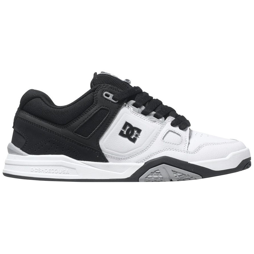 DC Stag 2 - White/Black/Armor - Men's Skateboard Shoes