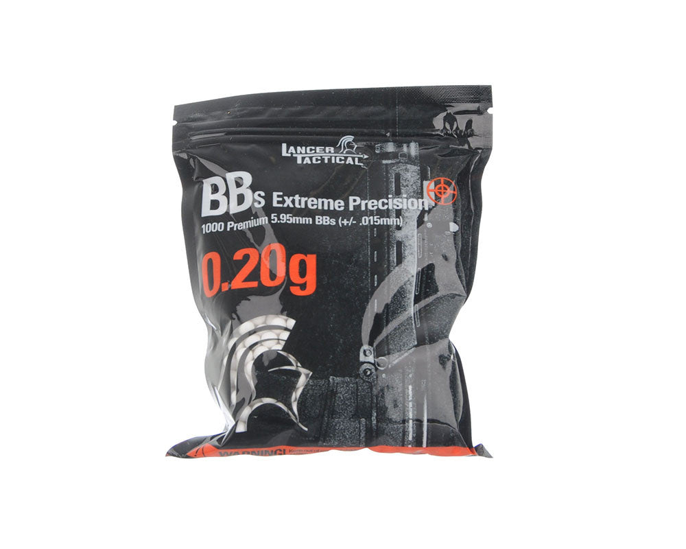 Lancer Tactical Airsoft BB's - 1000 - .20g