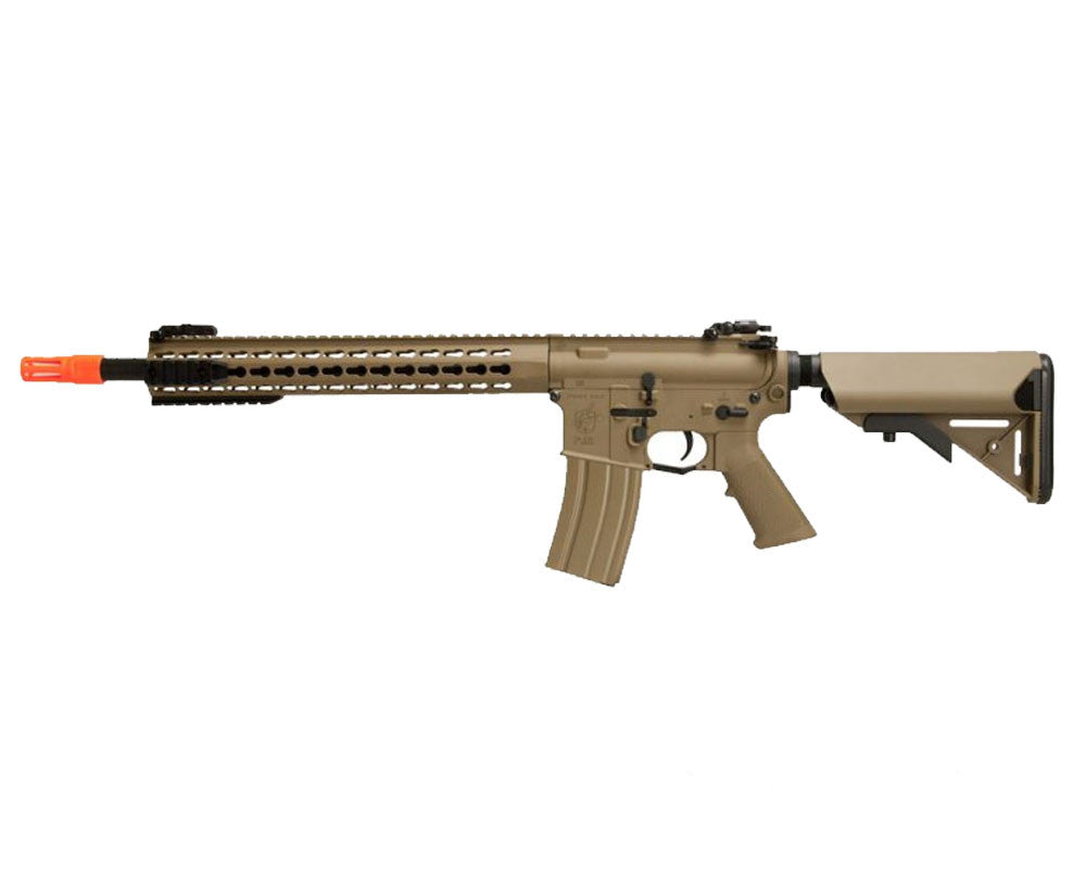 Knight's Armament Nylon Fiber SR-16E3 Carbine Mod2 AEG Airsoft Gun - Tan (JP-95)