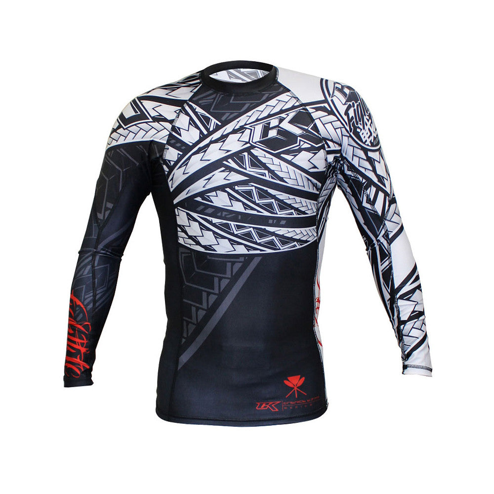 Contract Killer Long Sleeve Tribal Rashguard - Black