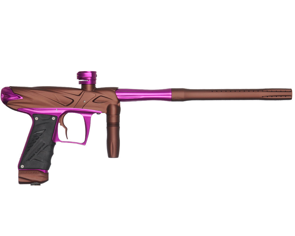 Bob Long Onslaught Paintball Gun - Dust Brown/Purple