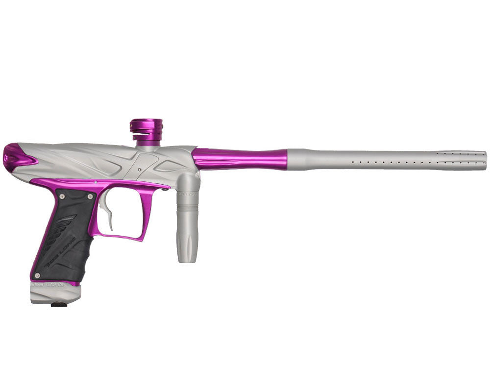 Bob Long Onslaught Paintball Gun - Dust White/Purple