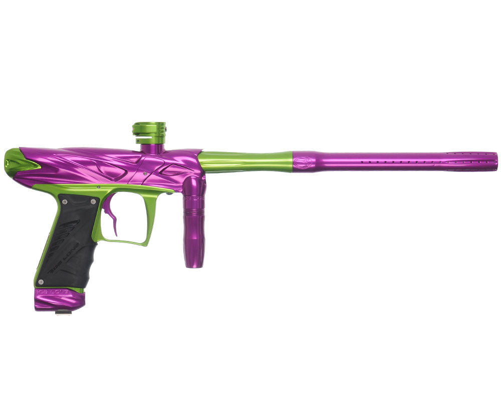 Bob Long Onslaught Paintball Gun - Purple/Lime