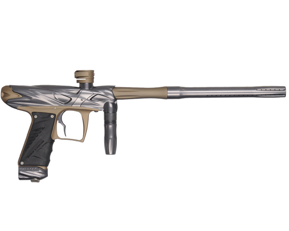 Bob Long Onslaught Paintball Gun - Titanium/Dust Khaki