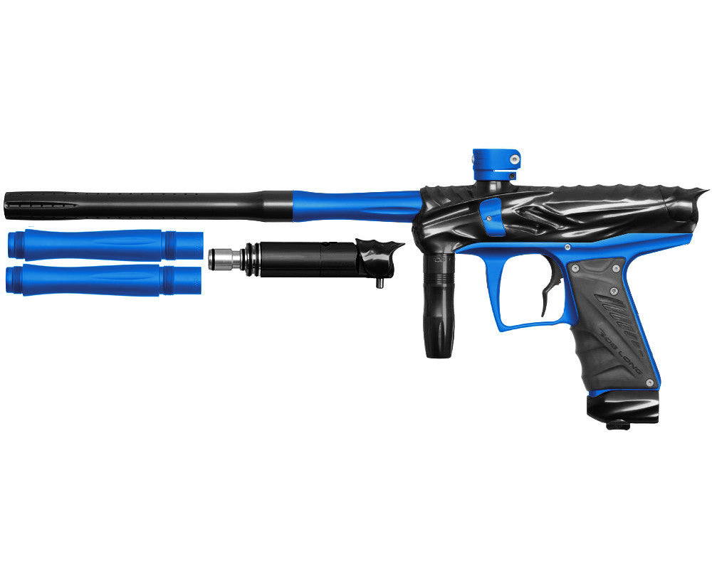 Bob Long Reptile VIS Paintball Gun - Black/Dust Blue