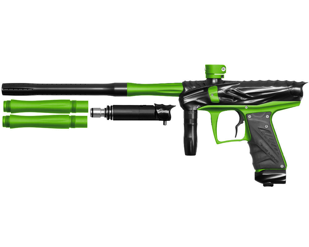 Bob Long Reptile VIS Paintball Gun - Black/Dust Lime
