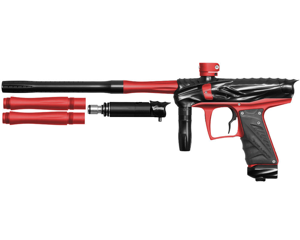 Bob Long Reptile VIS Paintball Gun - Black/Dust Red