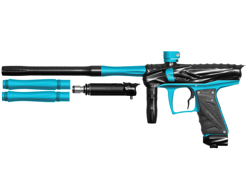 Bob Long Reptile VIS Paintball Gun - Black/Dust Teal