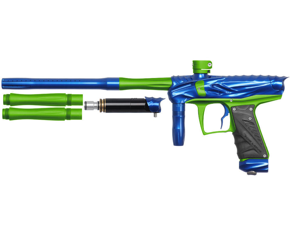 Bob Long Reptile VIS Paintball Gun - Blue/Dust Lime