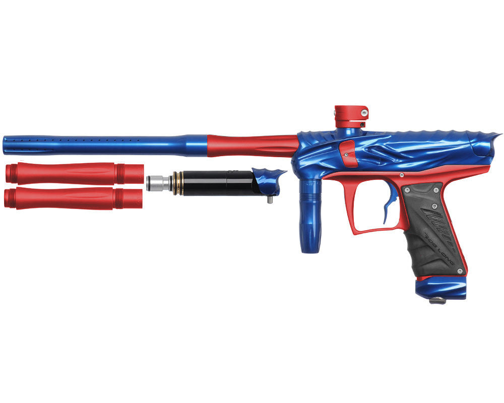 Bob Long Reptile VIS Paintball Gun - Blue/Dust Red