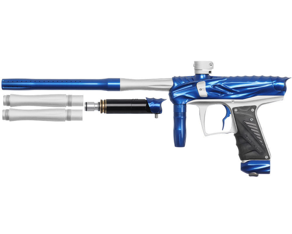 Bob Long Reptile VIS Paintball Gun - Blue/Dust White