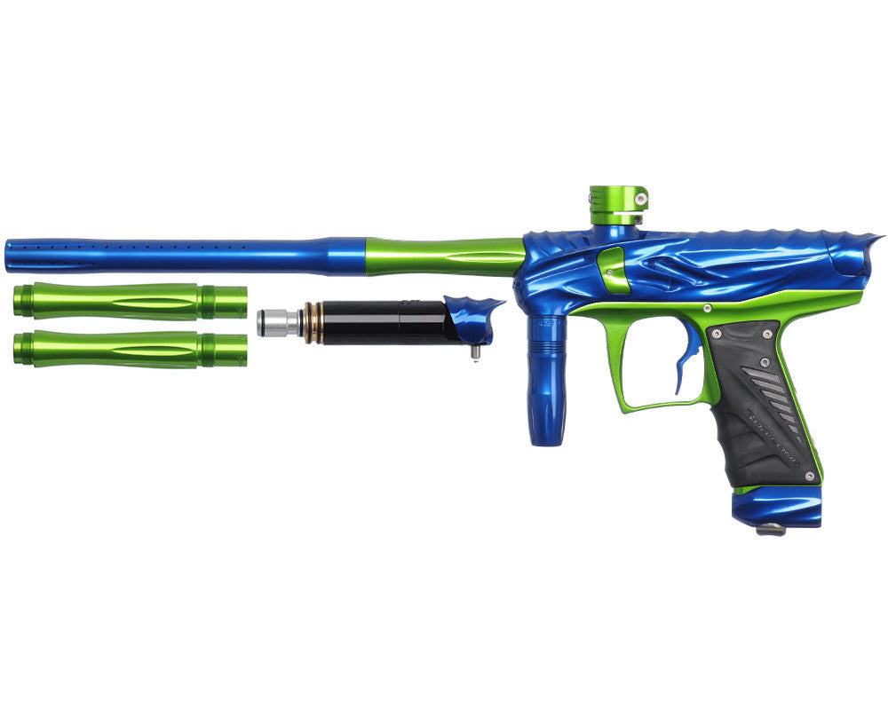 Bob Long Reptile VIS Paintball Gun - Blue/Lime