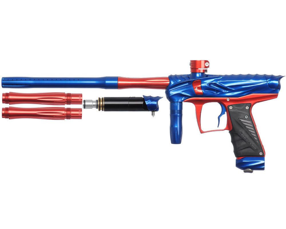 Bob Long Reptile VIS Paintball Gun - Blue/Red