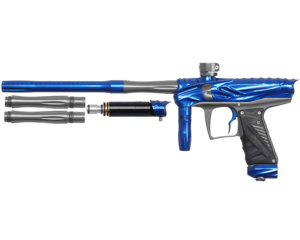 Bob Long Reptile VIS Paintball Gun - Blue/Titanium